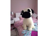 Big cuddley pug toy
