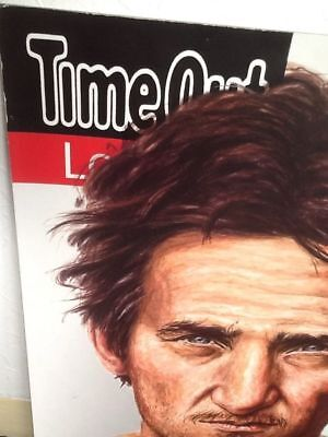 SEAN PENN ACTOR MOVIES TIME OUT UK LARGE ADVERTISING POSTER  CARDBOARD BACK XMAS