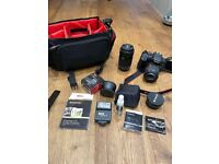CANON Eos Rebel T6i FULL KIT set + lenses + accessories digital camera DSLR