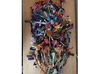 Huge Bundle Of 284 Coloured DMC And Anchor Thread Pieces