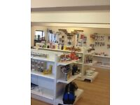 Fantastic range of metal shop shelving with all brackets