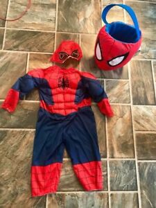 Spider-Man costume size fits 2T