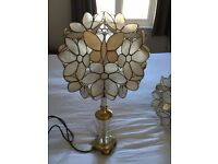 Ceiling Lampshade and matching table lamp