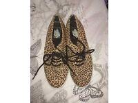 Ladies leopard print vans size 7