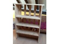 PINE WALL UNIT HAND MADE FROM OLD SCHOOL BENCH