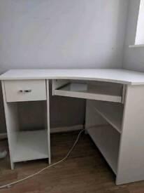 Gloss white computer desk