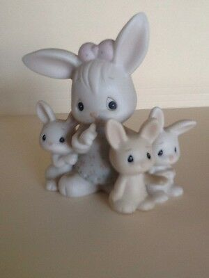 Vtg Enesco 1988 Samuel  J. Butcher Bunnies #115274