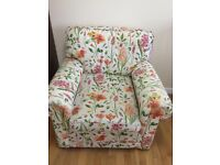 2 seater settee, armchair and foot stool