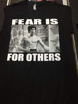 Bruce  Lee Fear Is For Others Movie Karate Kung Fu Martial Arts Shirt