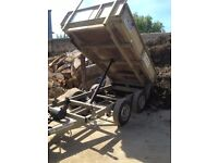ifor williams 8 by 5 manual tipper trailer