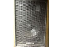 2 QTX PA speakers for sale.Great sound quality.