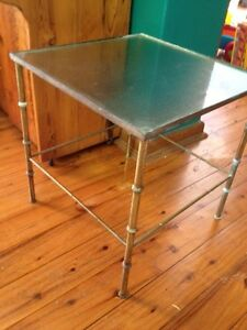 Glass and brass side table vintage Lilli Pilli Sutherland Area Preview