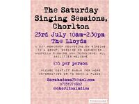 'The Saturday Singing Sessions' ladies singing workshop at The Lloyds Chorlton 23rd JULY
