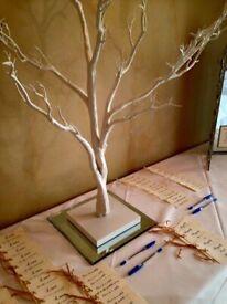 Natural White Manzanita Wishing Tree Centrepiece Wedding Home 80cm Tall