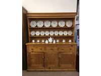 Large Victorian pine dresser