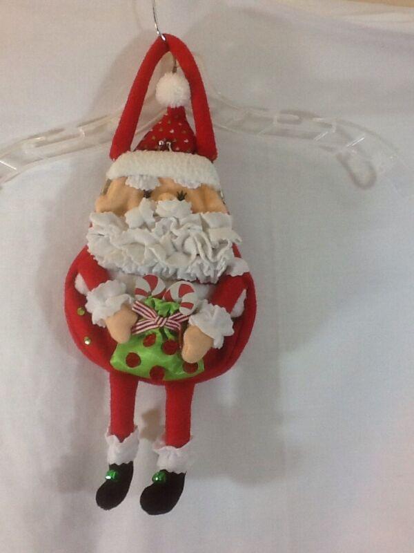 Unique SANTA CLAUS Coin Purse Santa Holding Bag has Dangling Legs pre-owned