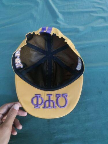 The Gold Omega Psi Phi  Biker cap