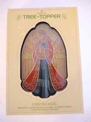 1979 Hallmark Vintage Christmas Angel Acrylic Tree Topper in Original Box