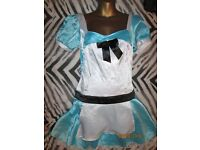 ALICE IN WONDERLAND FANCY DRESS SIZE 8/10 GREAT FOR A PARTY / HEN DO OR HALLOWEEN