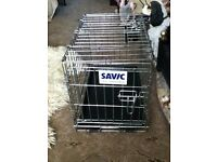 small savic galvanised dog cage