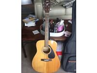 Yamaha accoustic guitar, with case
