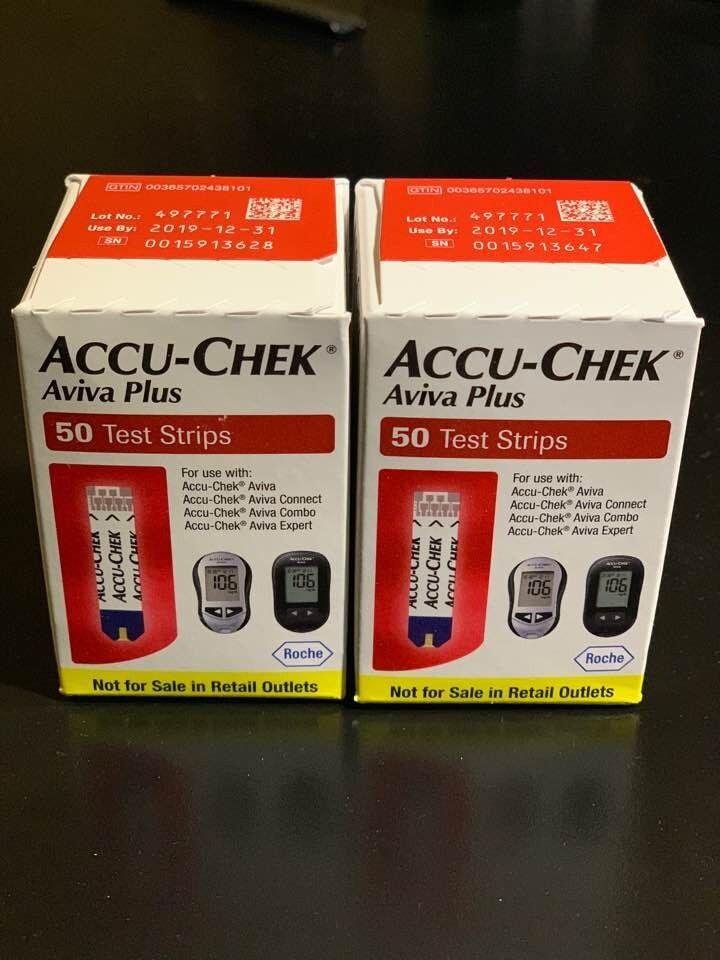 NIB Accu-Chek Aviva Plus Glucose Test Strips NFRS 2 boxes