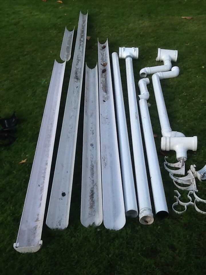 Guttering White uvpc mixed lot