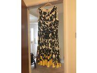 Dress, size 18, black cream and yellow.