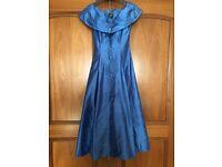 Monsoon Twilight vintage evening dress ultra blue