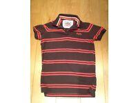 Superdry men's polo t-shirt, medium, £3