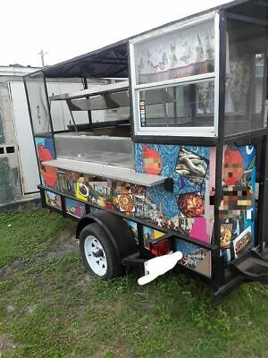 Compact 2015 Street Food Concession Trailer Used Small Mobile Kitchen For Sale I