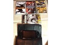 Psp slim&lite with 10 games and accessories