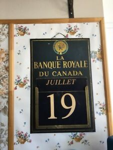 Ancien calendrier banque Complet