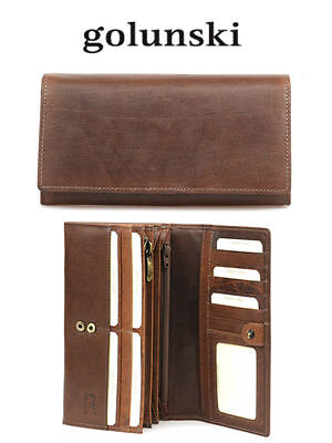 Style 851: Ladies Premier Purse In Vintage Leather By Golunski £35.00