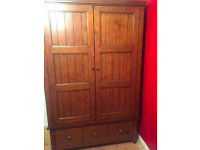 Solid wood chest wardrobe