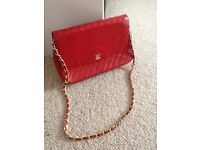 CHANEL Handbag, Vintage, 1980's, Classic, Beautiful condition, Scarlet Red
