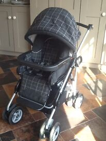 Mamas and Papas 3 in 1 travel system (pushchair, car seat, carry cot and matching accessories)