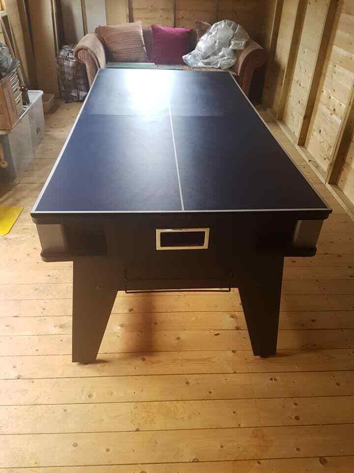 Strikeworth 6 foot Multi Games Table Pool Table Air hockey Table Tennis 3 IN 1