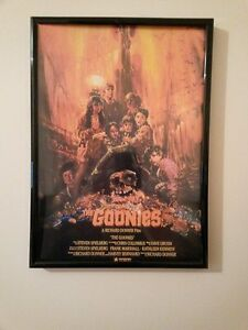 - THE GOONIES MOVIE Film Framed Poster Print 260gsm