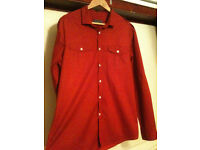 Burton Mens Red & Black Stripped Shirt - XL
