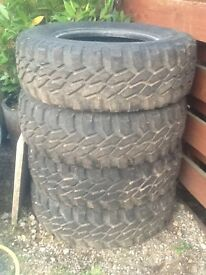 Off road tyre's landrover etc,