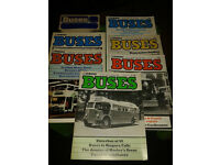 Vintage collectible Buses magazines by Ian Allan