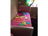 pink bed single 3ft