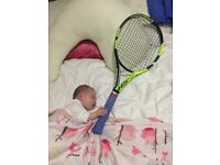 Tennis, squash racket stringing