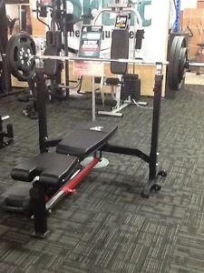 FOLDABLE MULTI-ANGLE BENCH WITH BUILT IN BENCH PRESS PACKAGE Rockingham Rockingham Area Preview