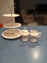 Cup cake stand / sugar bowl and creamer set Beaumaris Bayside Area Preview