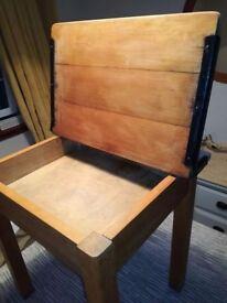 Antique oak child desk table