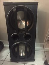 Fusion car subwoofer with built in amp Stuart Park Darwin City Preview