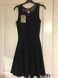 FOR SALE: Brand New Never Been Worn Cheryl Skater Dress Black Size 8 From Boohoo