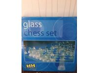 Brand New Glass Chess Set